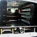 False Floor with ladder rack, conduit holder and shelving - Ford Transit SWB