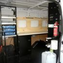 Telecommunications Van with auxillary 12 & 240V power, huge workbench, lockable storage, auxillary lighting and handy wash station - Ford Transit MWB ref:kpg168