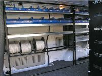 KAT Van Shelving Systems Inside View